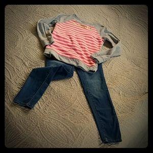 🍁Cat & Jack jeans & Cherokee light sweatshirt